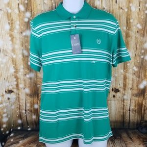Chaps Persian Green and white custom fit polo